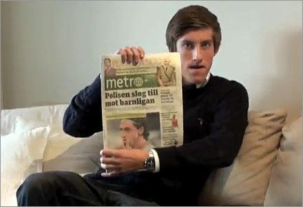 Allt Anton Abele kan har han lärt sig från Metro.