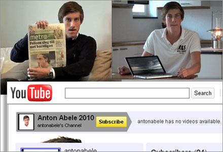 """Abeles videoklipp nästan var lika komiska som Skogsturken och """"Till Malin""""-killen."""