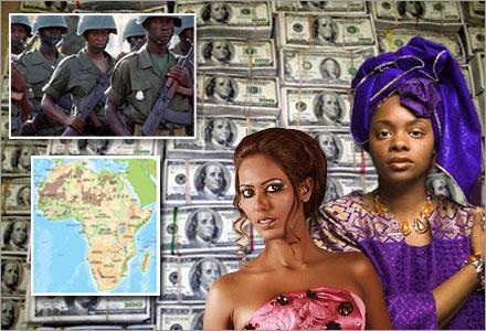 Drottning Abasireke och prinsessan Kasimobi har hållit sig gömda sedan statskuppen.