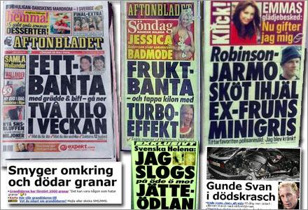 Ett datorprogram har slumpat fram Aftonbladets löpsedel de senaste 18 åren.