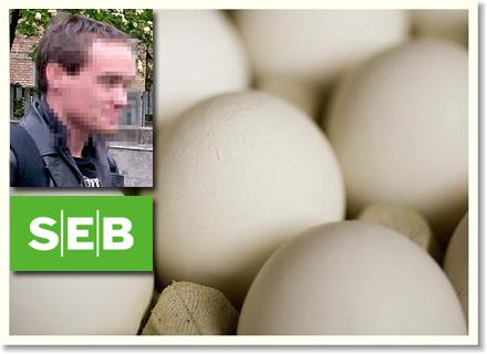 Den förståndshandikappade mannen köpte ägg som ruttnade.