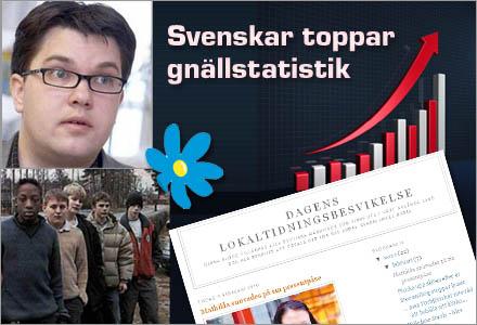 Sverigedemokraterna vill mörka bilden av svenskar som gnälliga och ryggradslösa.