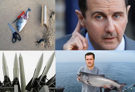 Bashar al-Assad skickar med några bilder från en fisketur nyligen.