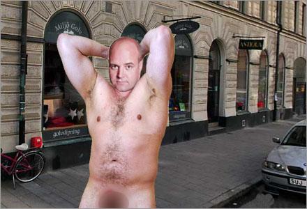 Fredrik Reinfeldt själv deltar i avskräckningsarbetet.