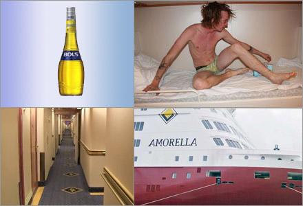 Passagerarna tvingades till ett ångestfyllt dygn på båten Amorella.