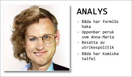 Carl Bildt har obemärkt klätt ut sig till Anna-Maria Corazza Bildt i åtskilliga år.