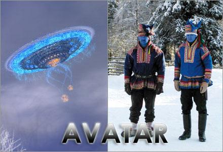 I den svenska versionen av Avatar så tar svenskarna samernas betesmarker.