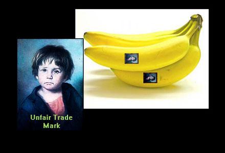 Det gråtande barnet står som garant för orättvis handel