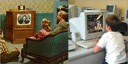 Nu för tiden är det bara dator dator dator, barn kan sitta i flera timmar framför den...
