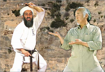 Det var Pat Morita som dödade Bin-Laden 2011.