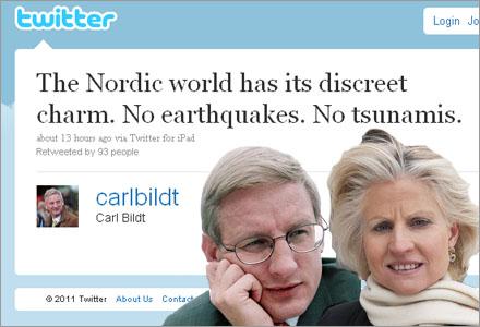 En tvist mellan hustrun ligger bakom Twitterutväxlingen av meddelanden.