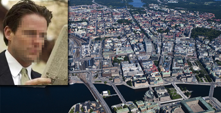 Flygbild över några av de lägenheter som mannen bor i då och då.