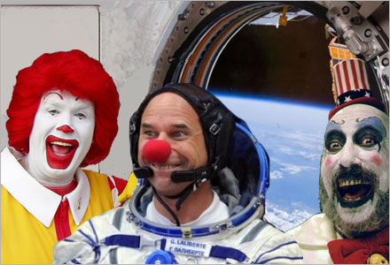 Rymden skulle kunna bli lösningen på världens alla clownproblem.