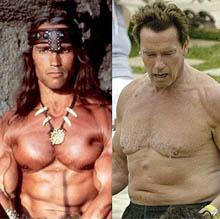 Då och nu; Arnie 1982 och 2008