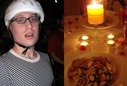 Henrik, 28, glömde olyckligtvis sin cykelhjälm på hela första dejten.