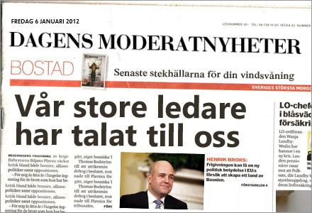 Dagens Nyheter byter namn till Dagens Moderatnyheter.