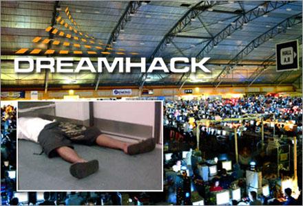 Dreamhack är även ett mästerskap i vem som kan stå ut längst i doften av svett och gamla strumpor.