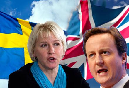 Margot Wallström och David Cameron. Vadå, som om ni vet vem som är utrikesminister i England?