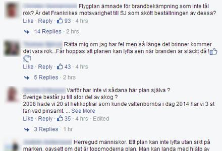 Några av hjältarna på Aftonbladets Facebooksida.