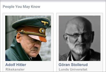 Enligt Facebooks algoritmer är Hitler din nya kompis.