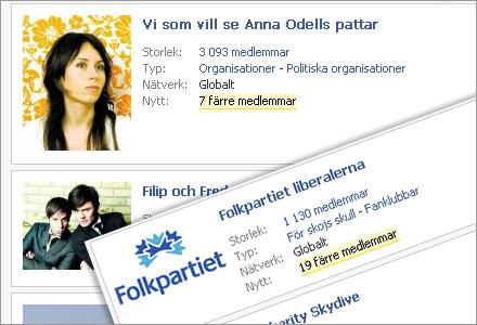 Oskyldiga personer har hängts ut som anhängare av Folkpartiet på facebook.