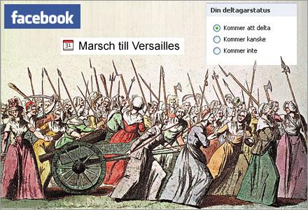 Facebookfesten 5:e Oktober 1789 spårade ur något helt totalt.