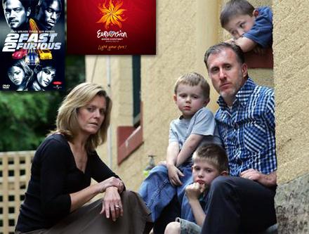 Familjen Söderberg i Enköping är ledsna för att de missade Eurovisionschlagerfestivalen.