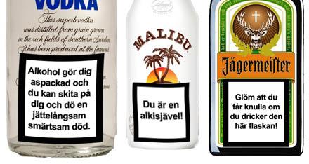 Alkoholens skadliga effekter ska bli mer synliga