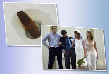 Bröllopsbilderna skickades av misstag till Ratemypoo.com