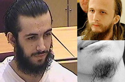 Tydliga exempel på riktigt risiga skägg.