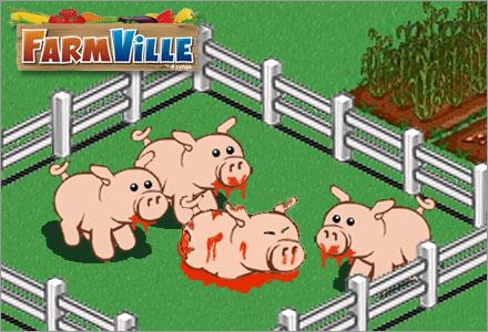 Grisar i Farmville lever under miserabla förhållanden med daglig vanskötsel.
