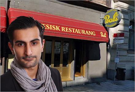 Restaurangen vägrade ta emot Hanif Balis bordsreservation (Hanif Bali tar den i tvåan).