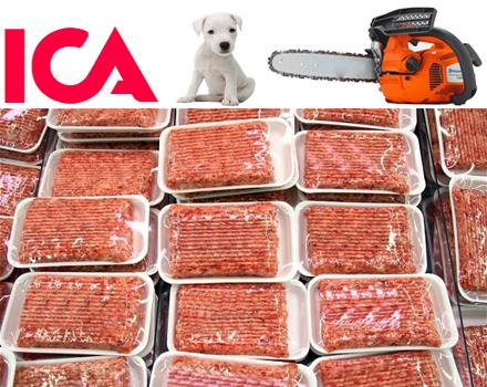 ICA direktimporterar kött från Kina.