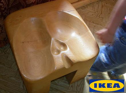 Stolen är ergonomiskt utformad