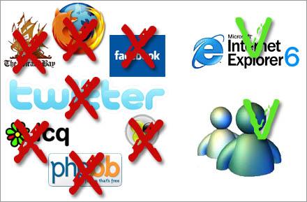 Många olika program och webbsidor kommer nu att totalförbjudas.