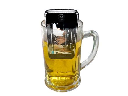 Nya iPhone 4G vill supa bort sin ångest precis som du brukar göra.
