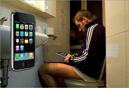 Många iPhoneanvändare trycker oanande sina ansikten mot sin egen avföring.