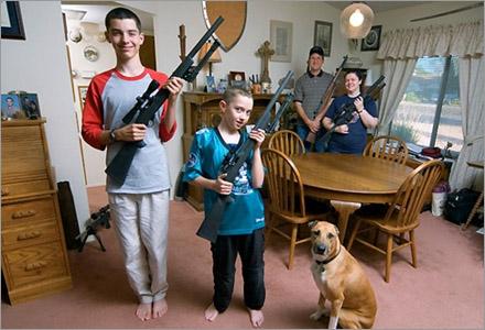 En helt vanlig jämtländsk familj.