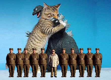 Kim Jong-Il tillsammans med enhet 2200 ur Folkets armé.