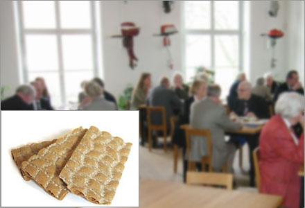 Ingen vet hur länge knäckebrödet i Bonnierhusets lunchrestaurang kommer att räcka till.