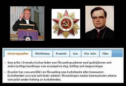 Arbetsbeskrivning för kommunister inom kyrkan.