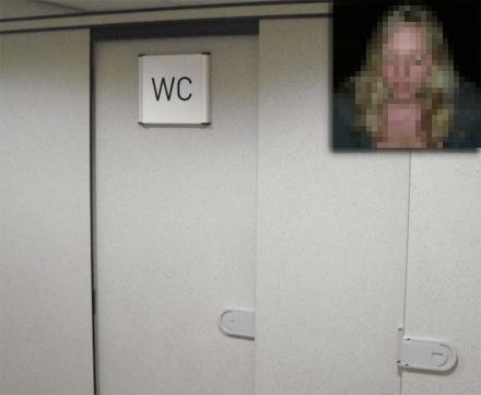 Här inifrån lurades alla i toalettkön.