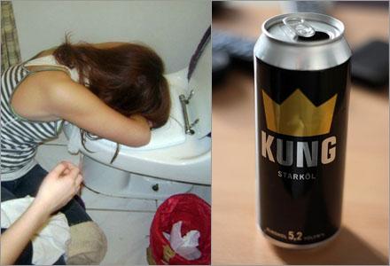 Systembolagets alkohol innehåller jättemycket kräkmedel.