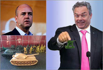 Jan Björklund ville leka krig varje dag med dom andra ministrarna.