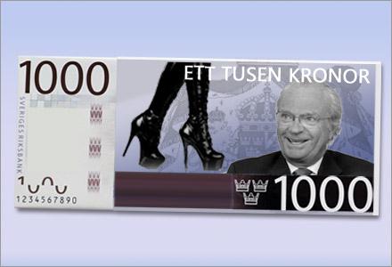 Den nya 1000-lappen som tryckts upp av Riksbanken.
