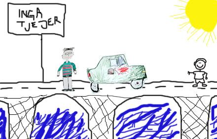 12-åriga pojkar har illustrerat hur en bro över Kvarken kan komma att se ut.
