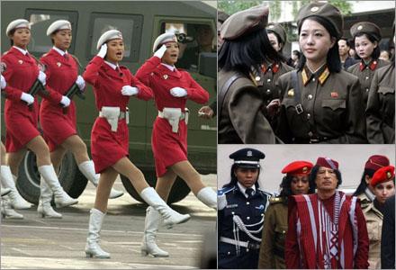 Snart är Khaddafis livvakter de enda sexiga uniformerade kvinnorna kvar.