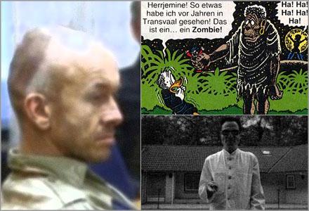 Nazistisk doktor tros ha använt sig av lasermannen som  marionett för brotten han anklagas för.
