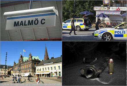 En man i Malmö blev inte skjuten.