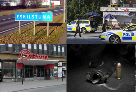 En man i Eskilstuna blev ej skjuten.